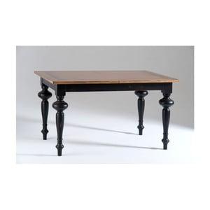Czarny stół rozkładany z drewna Castagnetti Adeline, 140 x 80 cm