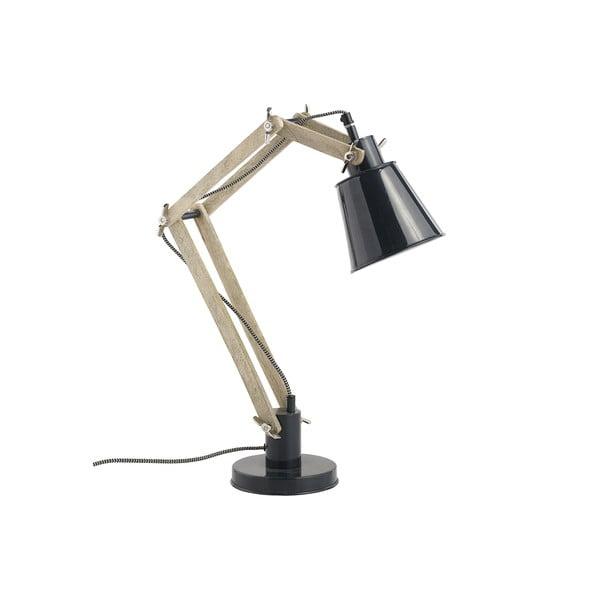 Lampa stołowa regulowana Retro, czarna