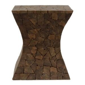 Stołek z drewna tekowego HSM Collection Mozaiek