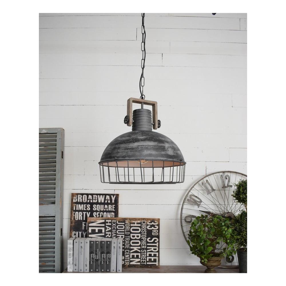 Szara lampa sufitowa Orchidea Milano Old Factory, ø 50 cm