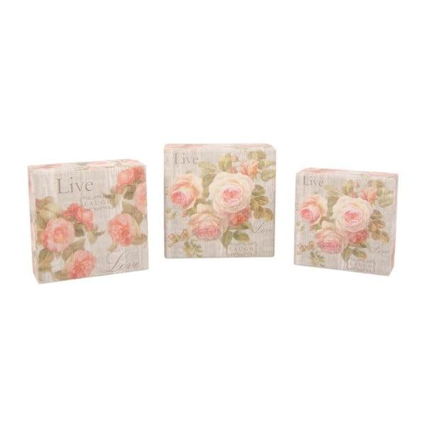 Zestaw 3 pudełek Sweet Roses