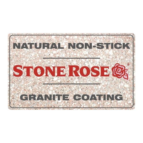 Zestaw 3 patelni z pokrywkami Bisetti Stonerose
