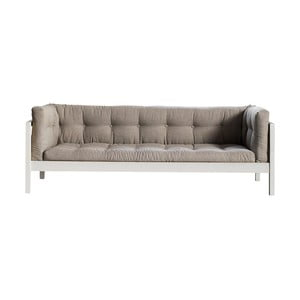 Sofa trzyosobowa Karup Fusion White/Linoso Light Gray
