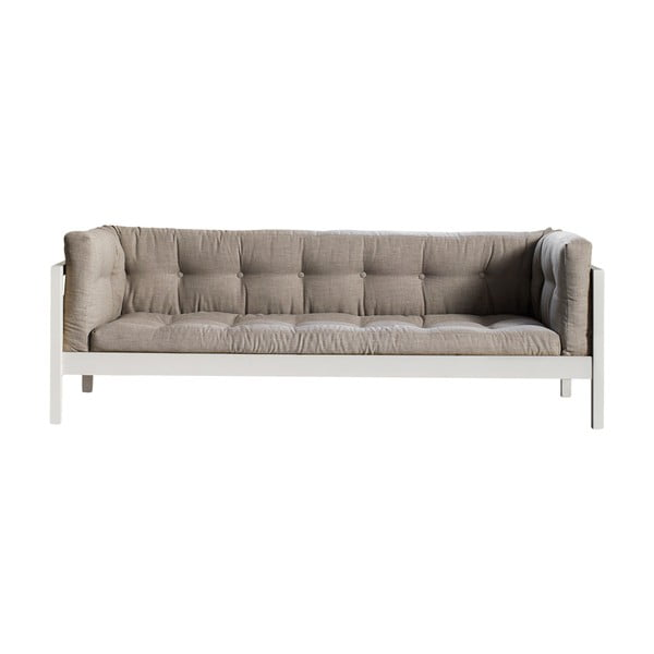 Sofa trzyosobowa Karup Fusion White/Linoso Light Gray