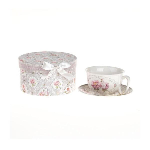Porcelanowa filiżanka z podstawką w pudełku podarunkowym Ribbon Roses