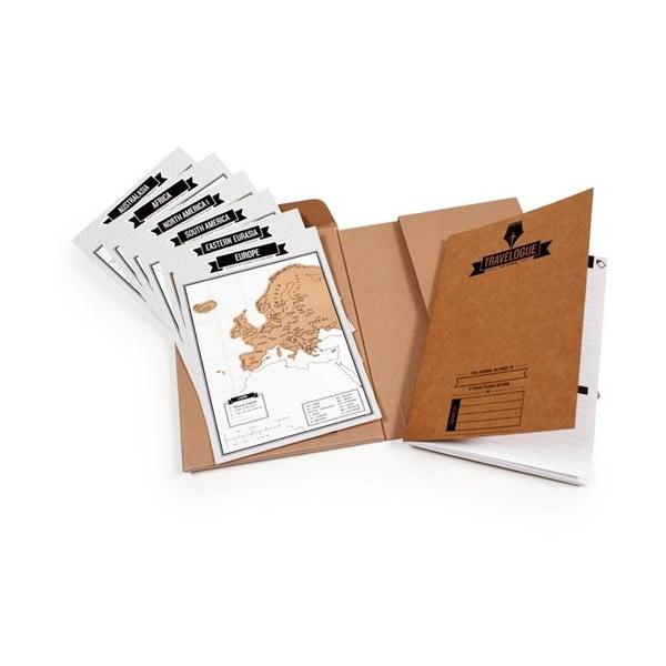 Zestaw podróżnika notes i mapa/zdrapka Luckies of London Original Edition