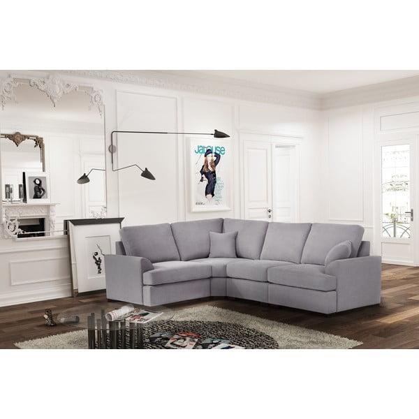 Sofa narożna Jalouse Maison Irina, lewy róg, jasnoszara