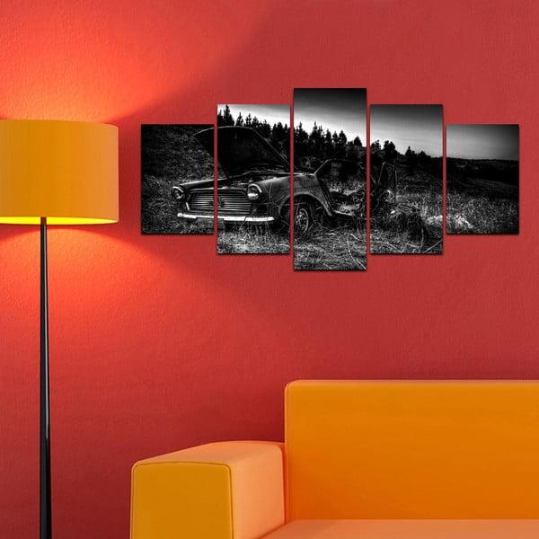 Wieloczęściowy obraz Black&White no. 97, 100x50 cm