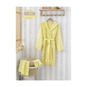 Zestaw szlafrok i ręcznik Sultan Yellow, L/XL