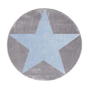 Szaro-niebieski dywan dziecięcy Happy Rugs Round, Ø 160 cm