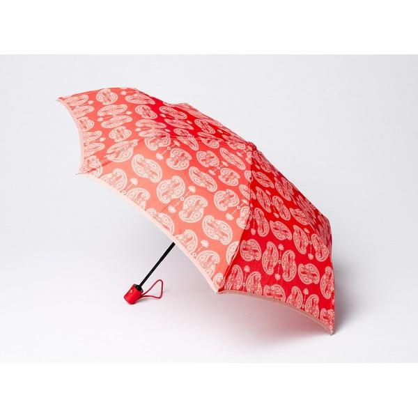 Składany parasol Cashmere, koralowy