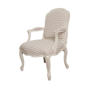 Kremowe krzesło z podłokietnikami z drewna brzozowego Livin Hill Verona