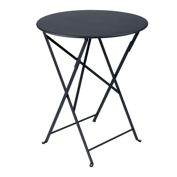 Antracytowy składany stół metalowy Fermob Bistro
