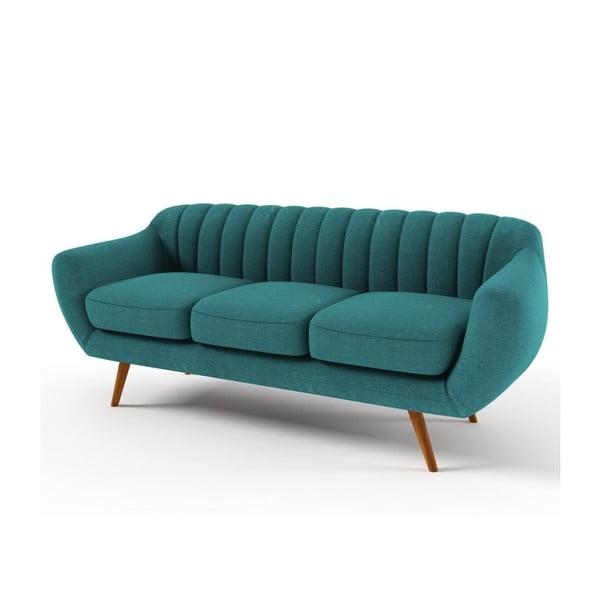 Turkusowa   sofa trzyosobowa Wintech Azurre Soro