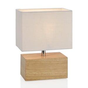 Drewniana lampa stołowa Square