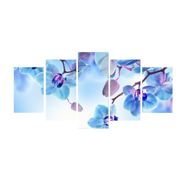 Pięcioczęściowy obraz Niebieska harmonia