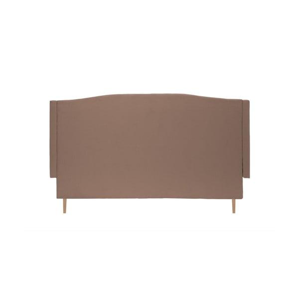Brązowe łóżko z naturalnymi nóżkami Vivonita Windsor, 180x200 cm