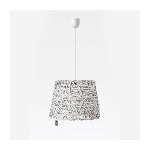 Lampa wisząca Roll, 35x29 cm, biała