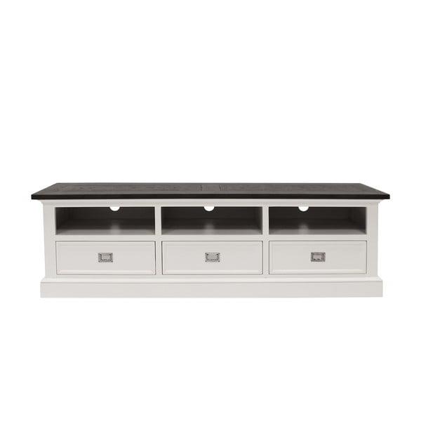 Biały stolik pod telewizor Canett Skagen TV Unit, 3 szuflady
