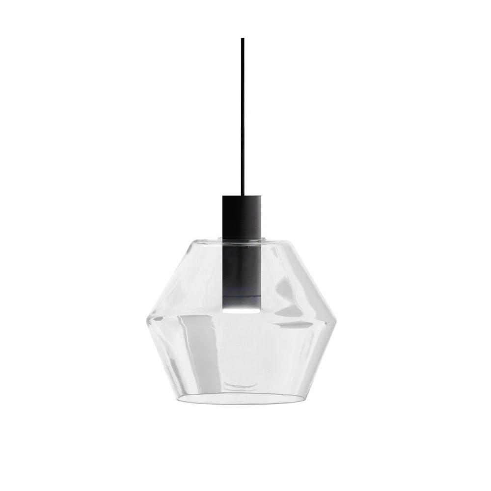 Czarno-biała lampa wisząca Markslöjd Diamant