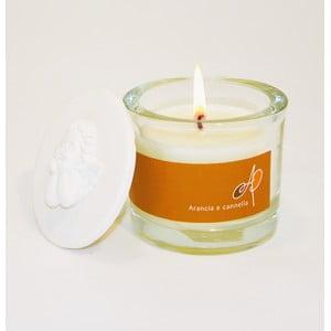 Aromatyczna świeczka THD Fragnances, pomarańcza z cynamonem