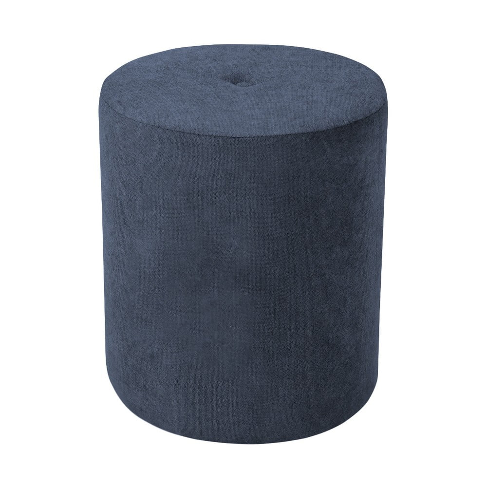 Ciemnoniebieski taboret Kooko Home Motion, ø 40 cm