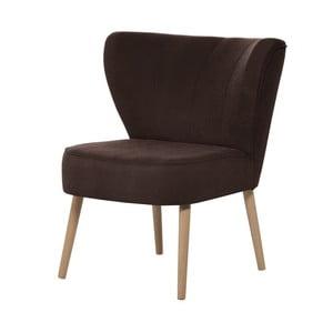 Ciemnobrązowy fotel My Pop Design Hamilton