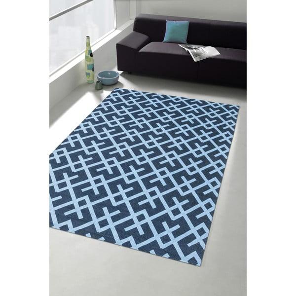 Wytrzymały dywan kuchenny Webtapetti Labyrinth Blue, 130x190 cm