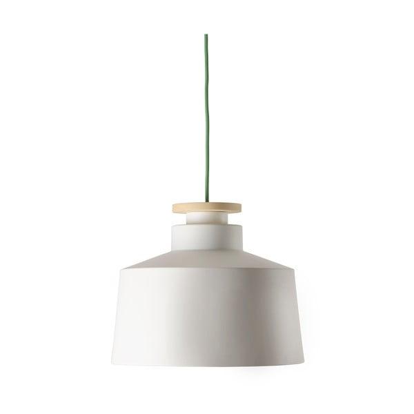 Żyrandol Street M, biały z zielonym kablem