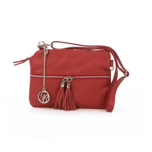Skórzana torebka Alberto, czerwona
