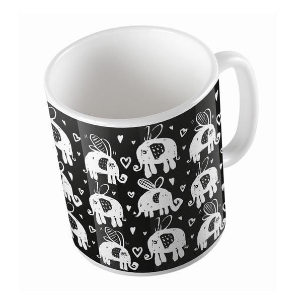 Ceramiczny kubek Flying Elephants, 330 ml