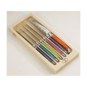 Zestaw 6 noży do steków w drewnianym opakowaniu Jean Dubost London Mix