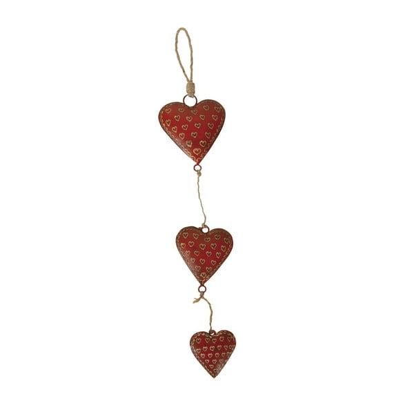 Dekoracja wisząca Antic Line Garland Three Hearts