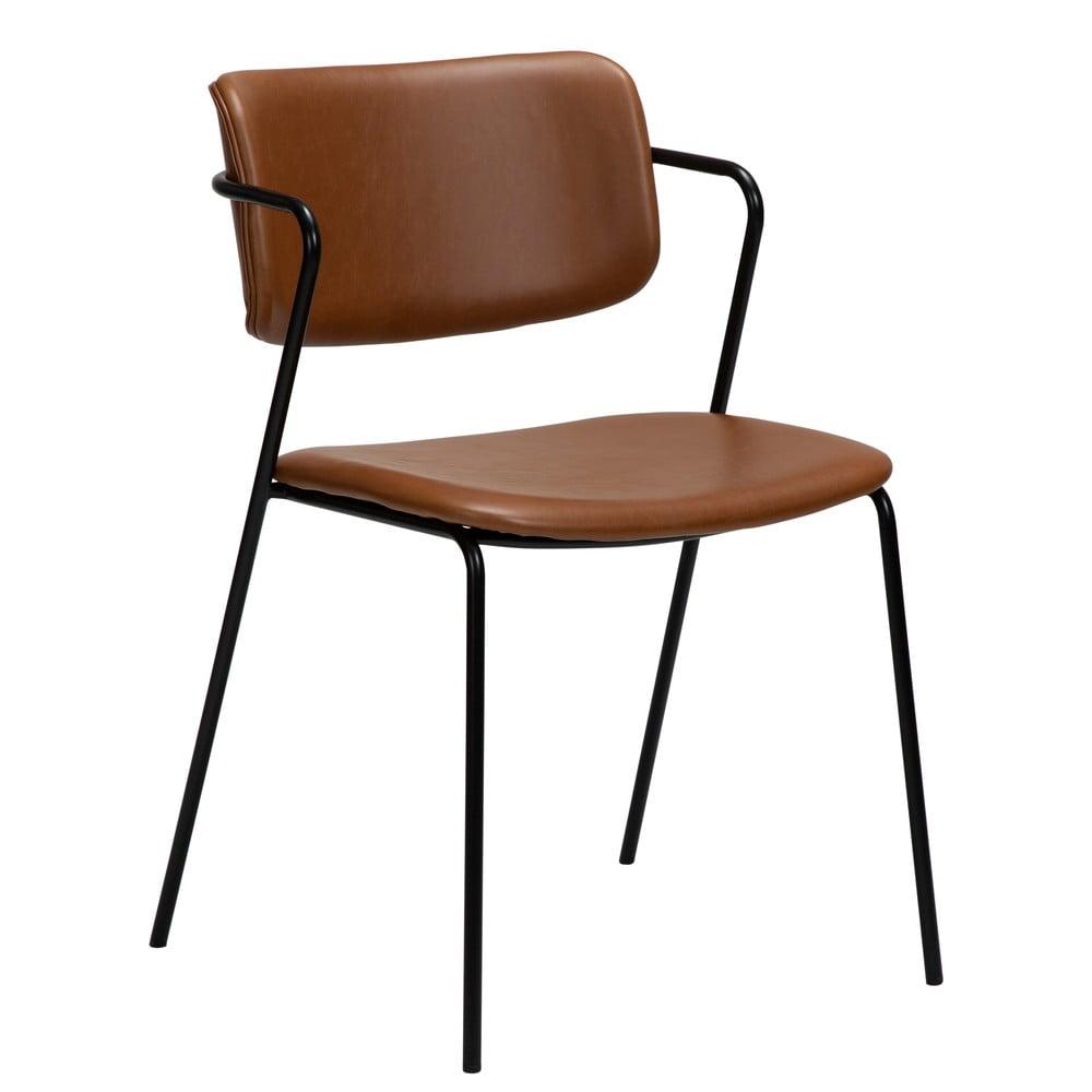 Brązowe krzesło z imitacji skóry DAN-FORM Denmark Zed