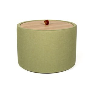 Zielony stolik ze zdejmowanym blatem z drewna dębowego Askala Ibisco, ⌀ 56 cm