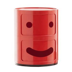 Czerwona szafka z 2 szufladami Kartell Componibili Smile