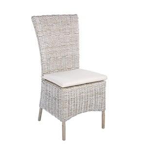 Białe krzesło ratanowe Bizzotto Isla