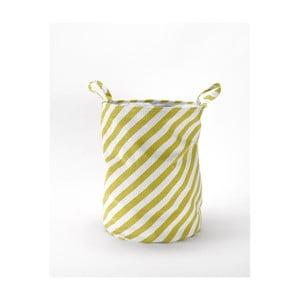 Kosz z materiału Stripes Mustard