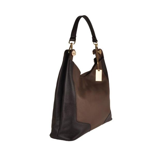 Skórzana torebka Emilio Masi Yala, brązowo-czarna