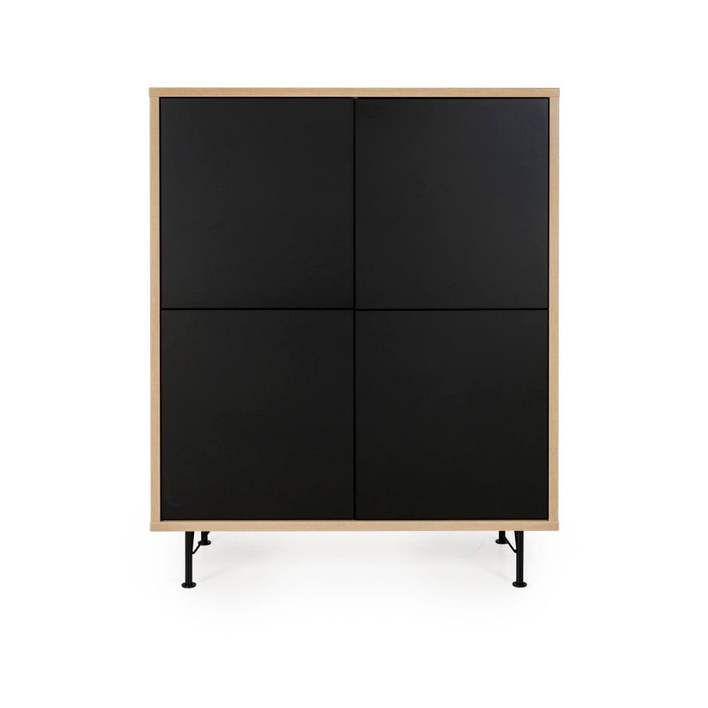Czarna szafka Tenzo Flow, 111x137 cm