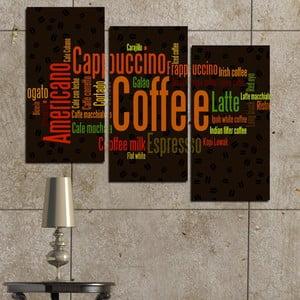3-częściowy obraz Kawa