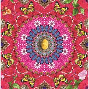 Tapeta flizelinowa Melli Mello Paradis, różowa