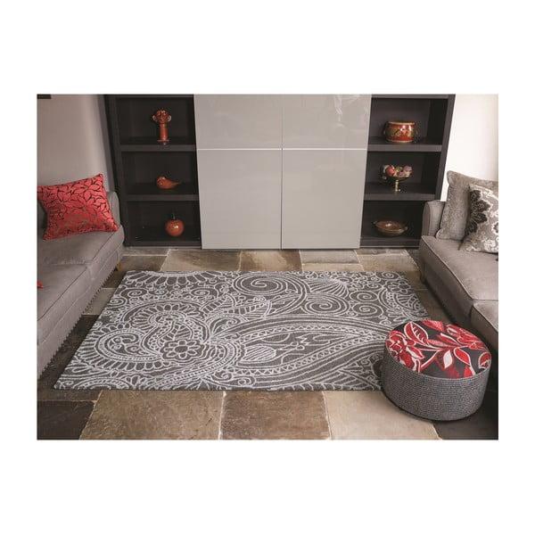 Dywan wełniany Mendhi, 120x170 cm, szary