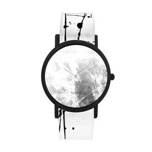 Zegarek unisex z biało-czarnym paskiem South Lane Stockholm Avant Diffuse Invert
