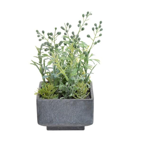 Sztuczne rośliny w doniczce Zioła