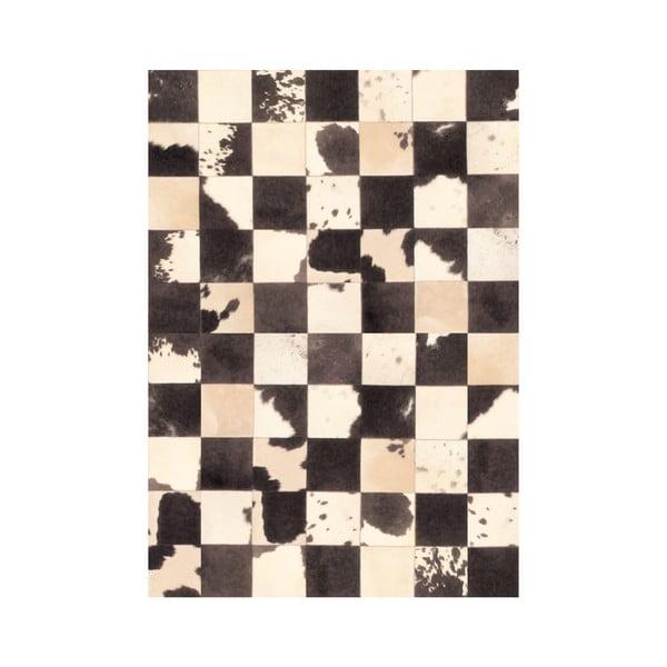 Winylowy dywan Patchwork Blanco Negro, 99x120 cm