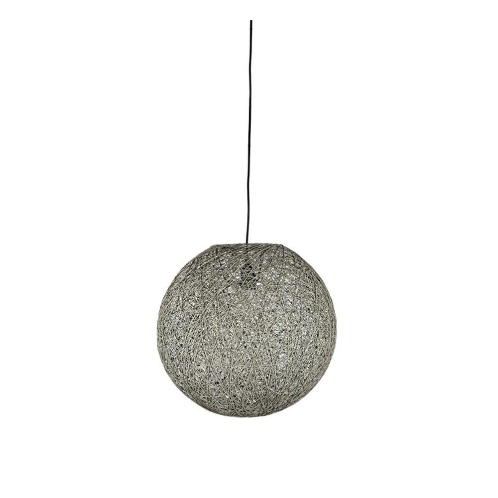 Szara lampa wisząca LABEL51 Twist, ⌀ 45 cm
