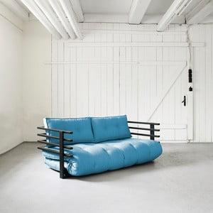 Sofa rozkładana dwuosobowa Karup Funk Black/Horizon Blue