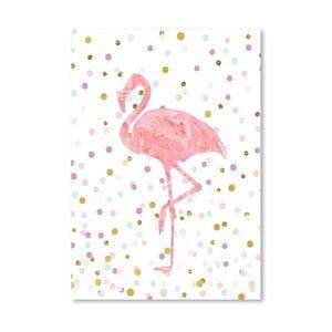 Plakat Americanflat Flamingo on Confetti, 30x42 cm