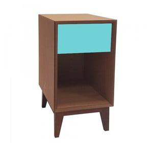 Duża szafka nocna z ciemnoturkusową szufladą Ragaba PIX